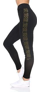 BSP Better Sports Performance Women's Active Leggings - Full Length High Waist Workout Pants with Rubber Print