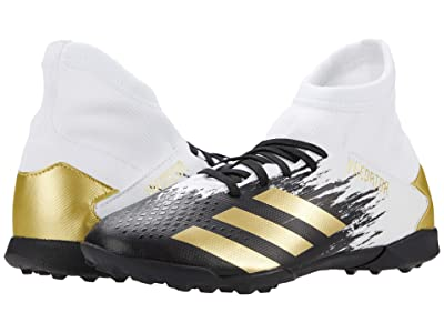 adidas Kids Predator 20.3 IN J Soccer (Little Kid/Big Kid) (Footwear White/Gold Metallic/Core Black) Kids Shoes