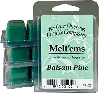 Our Own Candle Company Premium Wax Melt, Balsam Pine, 6 Cubes, 2.4 oz (4 Pack)