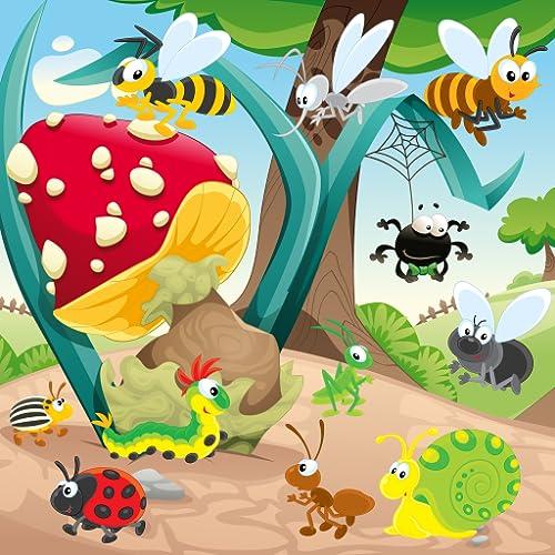 Insetos e vermes jogo para crianças : descubra o mundo dos insetos ! jogos para crianças pequenas