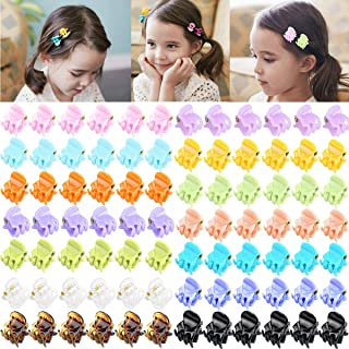84 pcs Acrylic Mini Hair Claw Tiny Hair Clips for Women and Girls (14 Candy Colors)