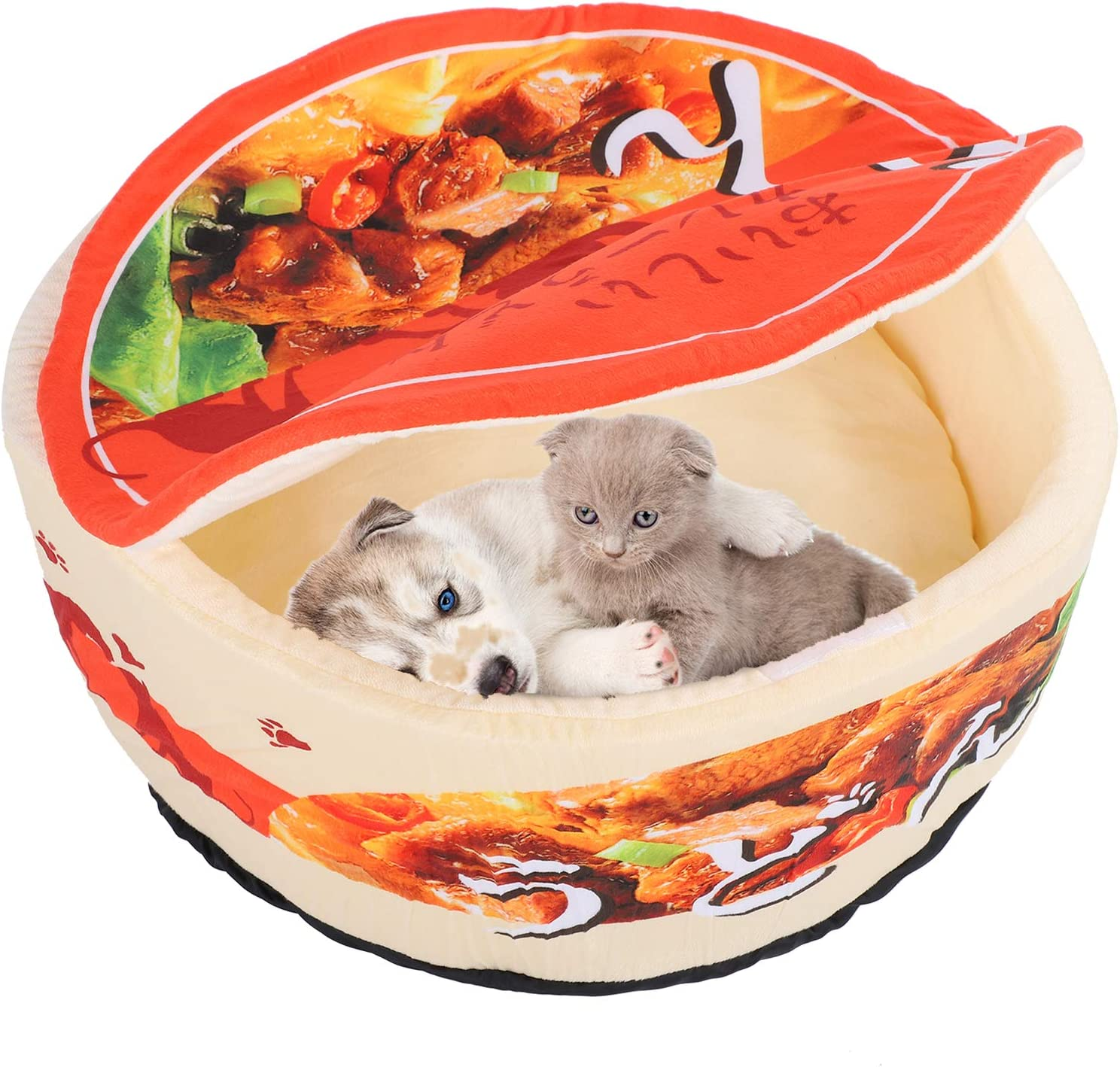Hozee Pet Charlotte Mall Bed Cat Three Noodle Special price Bowl 19.7X1 Dimensional