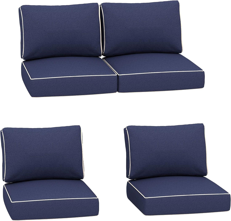Creative Living Blue-4Cushion Chat Group Cushion Set, Blue
