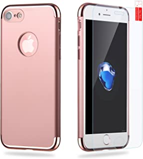 iPhone 7 Case Hedonism[Designers Series] Sleek Ultra Slim iPhone 7 Cases Suede Feel Slender Appearance+[Spare Screen Protector] for Apple iPhone 7-Rose Gold