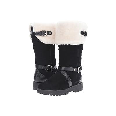 MICHAEL Michael Kors Fawn Boot (Black Sport Suede/Distressed Vachetta/Real Shearling) Women