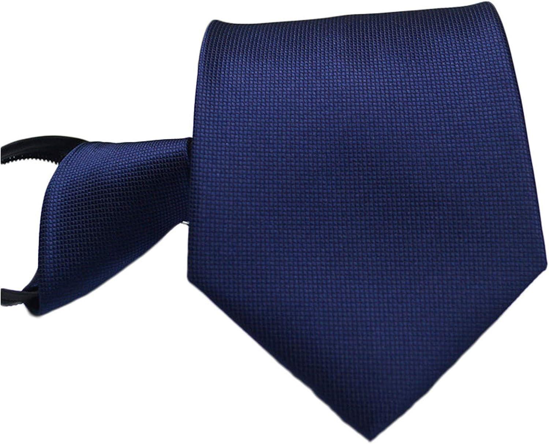 Andongnywell Striped Zip Tie College Stripe Zipper Tie Classic Stripe Silk Ties Formal Party Suit Necktie