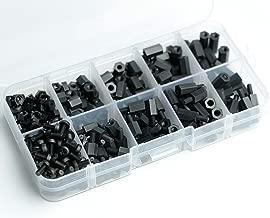 Aike® 300PCS M3 Nylon Black Hex Screw Nut Spacer Standoff Varied Length Assortment Box
