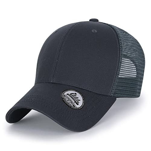 e2b97596 ililily Extra Big Size Adjustable Mesh Back Curved Baseball Cap Trucker Hat