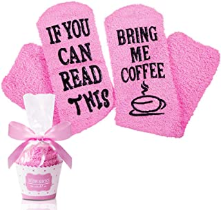 OOK, Calcetines de café con texto en inglés
