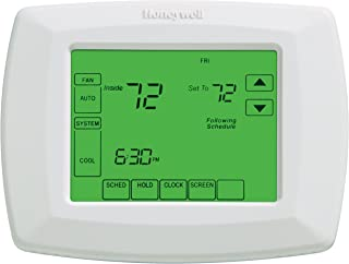 """Honeywell RTH8500D 7-Day Touchscreen Programmable Thermostat, """"C"""" Wire Required, White, 1Package (Thermostat) (RTH8500D1013/E1)"""