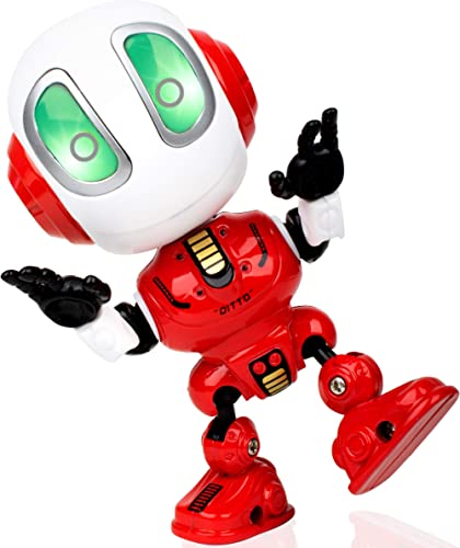 Voice Changer Talking Robots for Kids - Mini Metal Robot Toy with Posable Body, Educational Smart Learning Stem Toys ...