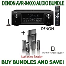 Denon AVR-X4000 7.2-Channel 4K Ultra HD Networking Home Theater AV Receiver with AirPlay & Definitive Technology Pro Cinema 800 System Black