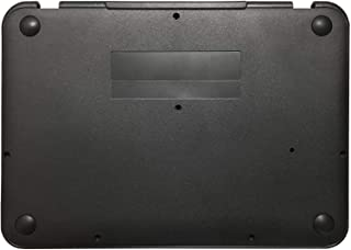 Rinbers Black Lower Bottom Case Cover Laptop Base Enclosure with Rubber Feet and Holder for Lenovo Chromebook 11 N22 Repla...