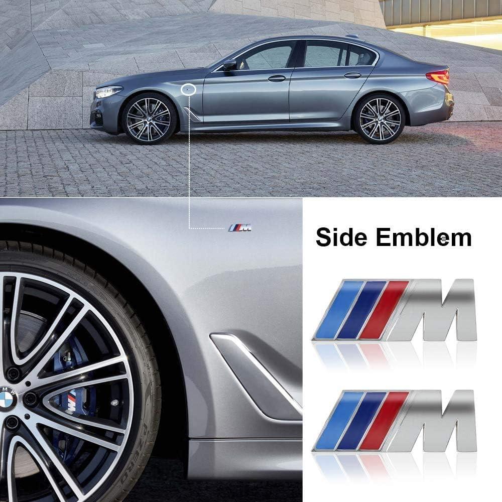 Black Chuangzhi Sales Fit BMW M Emblem Tri Color Rear Emblem Fender Side Emblem Car Decal Logo Sticker Fit B-M-W M Accessories