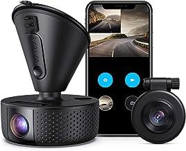 دوربین دوگانه DASH، VAVA دوگانه 1920x1080P FHD دوربین جلو و عقب داش (2560x1440P تک جلو) برای ماشین با Wi-Fi، دید در شب، حالت پارکینگ، G-سنسور، WDR، ضبط حلقه