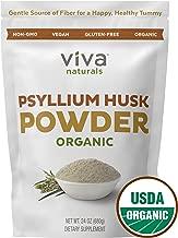 Organic Psyllium Husk Powder; Psyllium Husk Fiber Powder for Baking Keto Bread, Easy Mixing Fiber Supplement for Promoting Regularity, Finely Ground & Non-GMO, 24 oz.