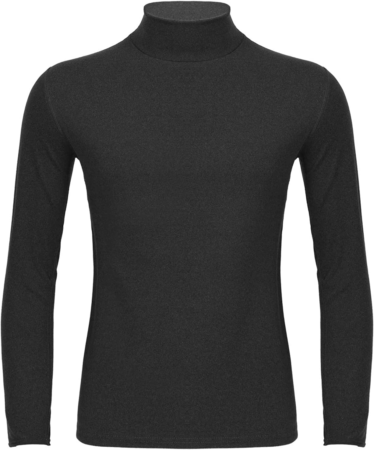Haitryli Men's Casual Turtleneck Long Sleeve Thermal Underwear Tops Undershirt Base Layer Shirts