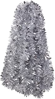 DECORA Silver Tinsel Garland Christmas Tree Decorations Wedding Birthday Party Supplies for 33 FEET Long