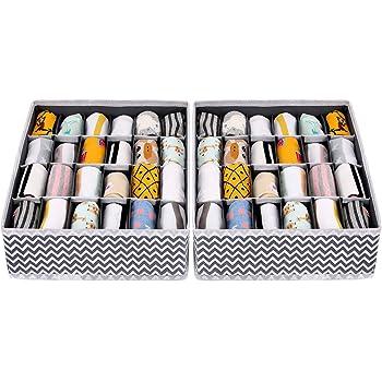Oransail Organizador de Ropa Interior Calcetines Organizador de cajones 30 Cajas 43CM/× 29CM/×13CM Cafe