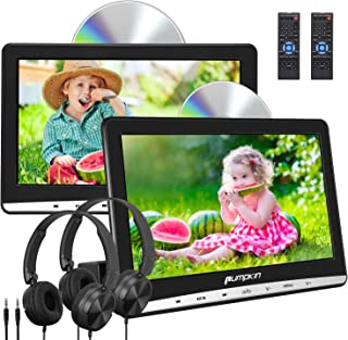 "comprar comparacion Pumpkin Reproductor de DVD para Coche con 2 Pantalla, 10.1"" HD Dos Reproductores para Reposacabezas de Coche, Viene con 2 ..."