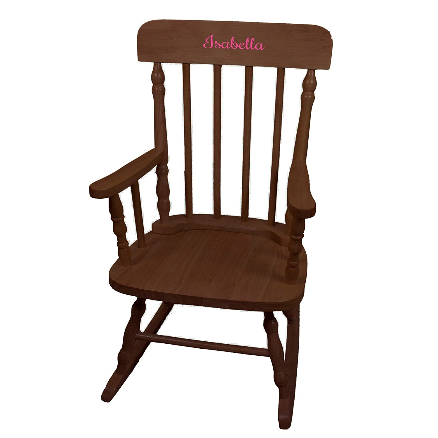 Personalized Girls with Name Our shop OFFers the best service only Chair Espresso Wooden Rocking Max 45% OFF