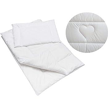 Anti Allergy Duvet and Pillow Set 150x120 cm for Toddler Junior Bed