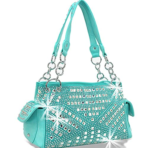 b75c4fc796 Zzfab Gem Studded Rhinestone Concealed and Carry Purse