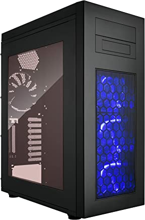 Rosewill ATX Torre Gaming Computer Case, Rise Brillo, Negro