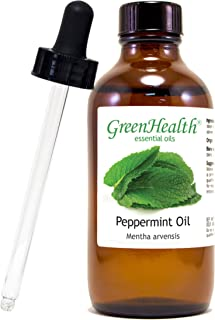 Peppermint Essential Oil (100% Pure), Premium Quality, Undiluted 4 fl oz w/Cap - Plus Glass Dropper + Digital Guide Book