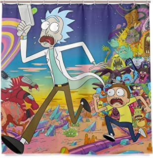 Rick Morty Bath Shower Curtain Waterproof Fabric Shower Curtains 72x72 Inch