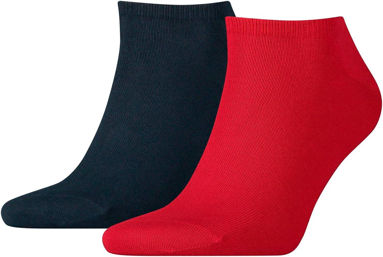 Tommy Hilfiger 2-Pack Men's Trainer Socks, Navy/Red