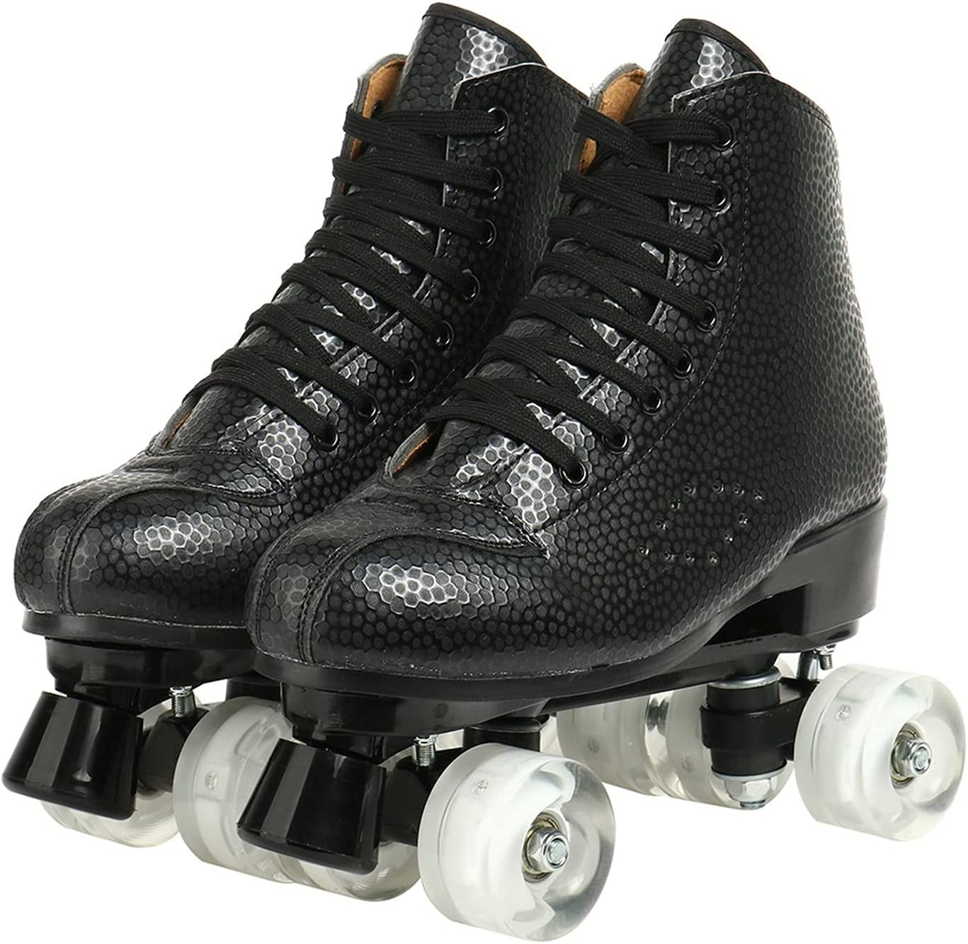 Roller Skates Max 53% OFF for Women Classic PU H Max 82% OFF Leather Double-Row