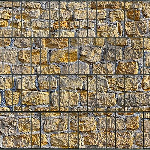 Sichtschutzstreifen aus 100 % formbeständigem PES | 26m x 19cm Rolle | Motiv: Münsterland