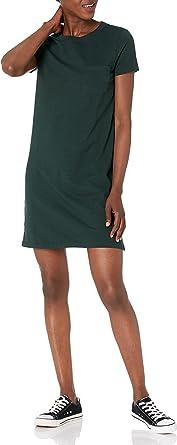 Marca Amazon - Goodthreads Heavyweight Cotton Slub T-shirt Pocket Dress - dresses Mujer