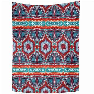 Ahawoso Tapestry 60x90 Inch Iranian Pattern Abstract Moroccan Malaysian Carpet Geometric Batik Medieval Morocco American Arabian China Tapestries Wall Hanging Home Decor Living Room Bedroom Dorm