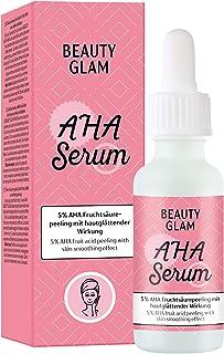 Beauty Glam – AHA Serum – Peeling-Serum mit 5% AHA Fruchtsäure – für ein feineres Hautbild- Vegan, silikonfrei, ohne Farbstoffe, ohne Parfum, Made in Germany - 30 ml