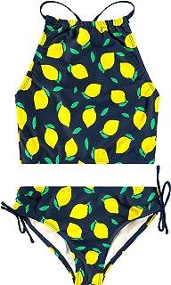 ملابس سباحة تانكيني رياضية للبنات مُكوّنة من قطعتين بصديرة وبرسم زهور الدايزي من كانو سيرف
