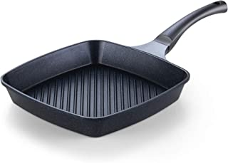 """Cook N Home Marble Nonstick Cookware Saute Fry Pan, 11"""" x 11"""" Grill, Black"""