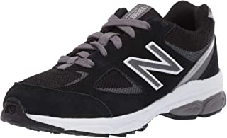 New Balance Boys' 888v2 Running Shoe, Black/Grey, 1 M US Little Kid