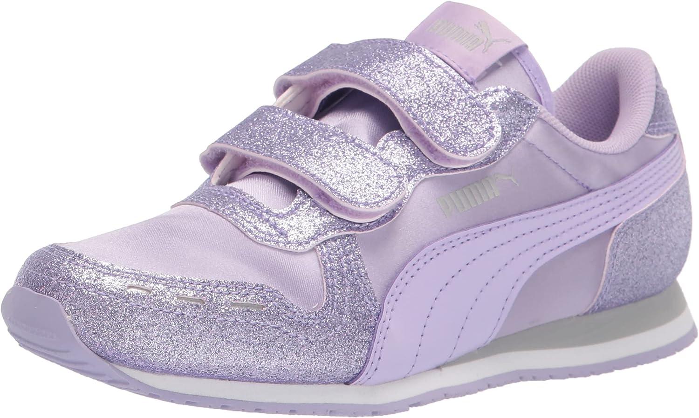 PUMA Unisex-Kid's X-Ray Velcro Sneaker, Whitebright Rose-Peony-Purple Heather, 2 M US Little Kid