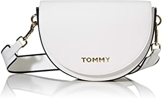 Tommy Hilfiger Women's Staple Saddle Bag, White - AW0AW08226