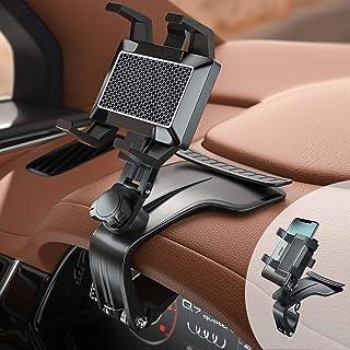 Supporto per Telefono per Auto,Supporto Multifunzione per Cruscotto Auto Specchietto Retrovisore con Clip a Molla Regolabi...