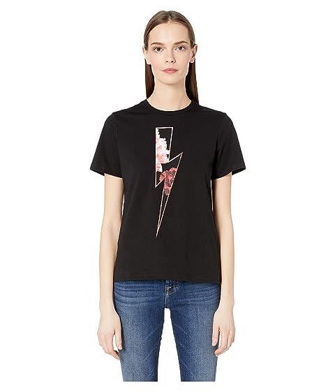 Neil Barrett Floral Thunder T-Shirt