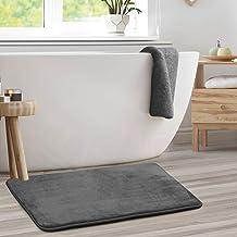 "Memory Foam Bathrug ? Gray Bath Mat and Shower Rug Large 20"" x 32"" Inches Non Slip Latex Free Plush Microfiber. Comfortabl..."