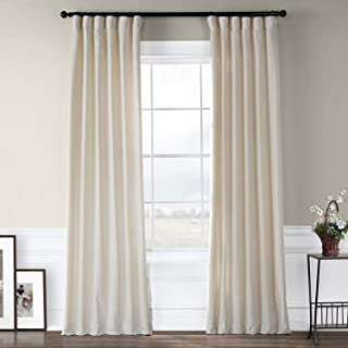 HPD Half Price Drapes FHLCH-VET13192-120 Heavy Faux Linen Curtain, 50 X 120, Barley