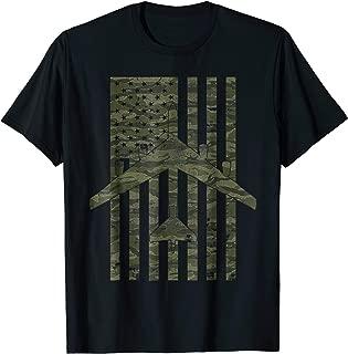 B-52 Stratofortress Tigerstripe Camo Vintage Flag T-shirt