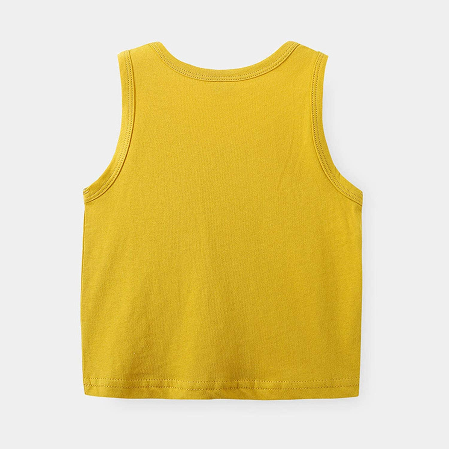 Huaer) Toddler Boys' 2-3 Pack Tank Tops (Blue+Yellow, 5T)
