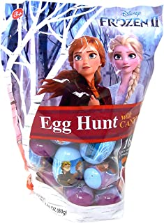 Disney Frozen 2 Plastic Candy Filled Easter Eggs, 16 Count, 2.82 Ounce