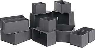SONGMICS Organisateurs de tiroirs, Boîtes de Rangement pour sous-vêtements, Lot de 12, pour Chaussettes, Soutiens-Gorge, C...
