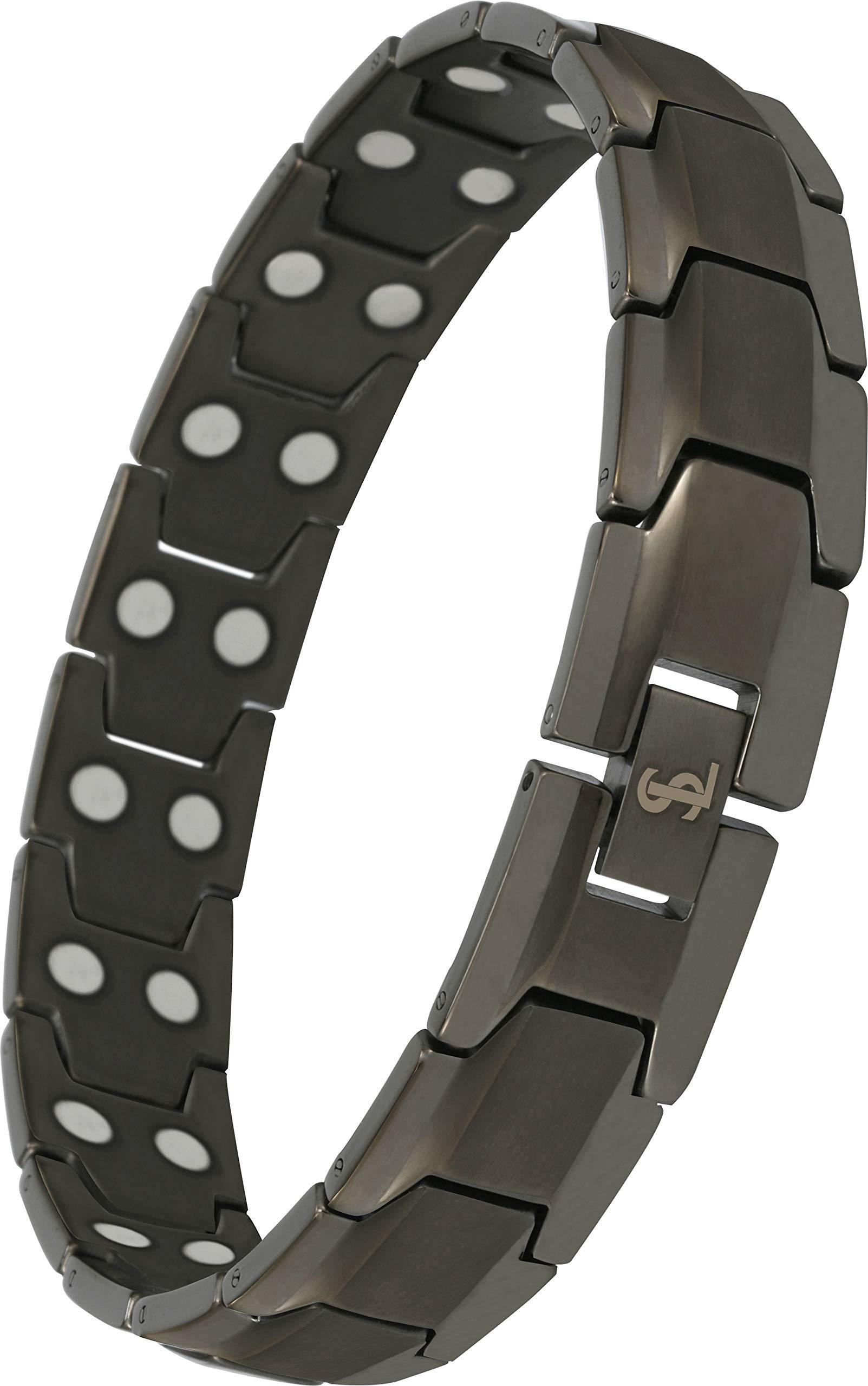 Titanium Magnetic Bracelet Arthritis Gunmetal